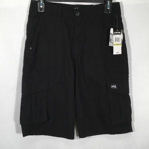 Zoo York Black Shorts True Flex Cargo Boys Size 14